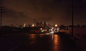 Riding around LA at night was actually pretty scenic, in a harsh way...