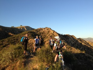 Finishing up another day in the hills above the Giant Office.  Or is this our office?  Sweet.