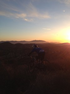Kelli Emmett did work this winter too, she was training for this sunset moment at our new favorite SoCal suburb DH track...