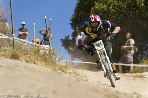 This was THE corner in the DH race.  Good to focus on a line.